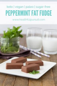 Peppermint Hemp Fat Fudge (low-carb, dairy-free, keto, vegan + paleo)