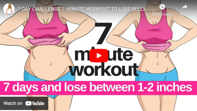7 Minute Workouts for 7 Day Challenge Shows you How to Get Rid of Fat at Home!
