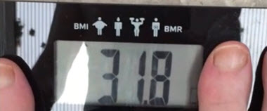 My Scales Body Mass Index (BMI) for My Last Diet Plan this was a This reading was a real eye-opener in my How to Get Rid of Belly Fat Journey.