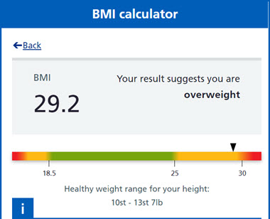 Weigh-in #2 of my How to Get Rid of Belly Fat Journey BMI Calculator