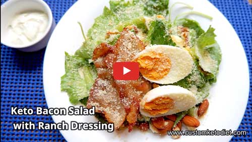 Keto Bacon Salad how to get rid of belly fat