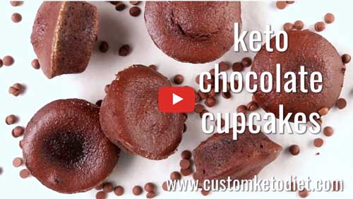 Keto Chocolate Cupcakes Desser how to get rid of belly fat